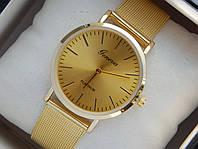Мужские (Женские) кварцевые наручные часы Geneva Platinum на металлическом ремешке, фото 1