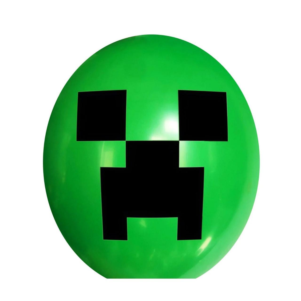 """Повітряні кулі зелені Майнкрафт 30 см (12"""") Мексика поштучно"""