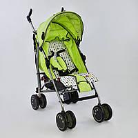 Детская коляска-трость JOY Салатовая (Q 2005) с широким козырьком
