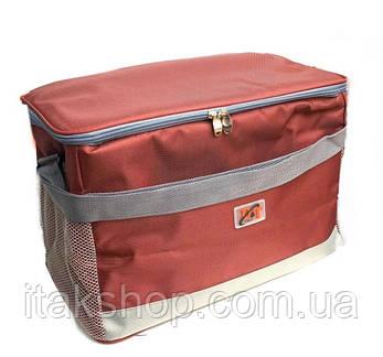 Сумка холодильник DT-4246 (40*23*27 см) Термосумка Красная, фото 2