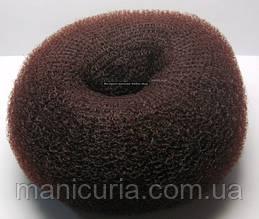 Валик для создания объёмных причесок большой коричневый