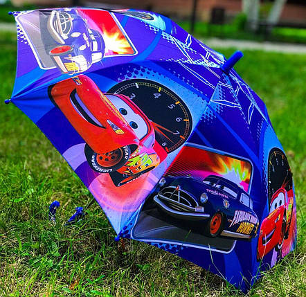 Зонт трость детский Mario с рисунком «Тачки» на 4-8 лет (1222002255), фото 2