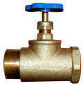 Клапан запорный проходной с муфтовым и цапковым присоединительными концами