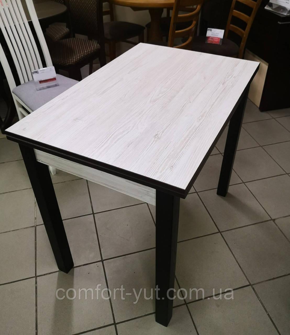 Стіл кухонний розкладний обідній Прага аляска -венге 90*60(120)*75см