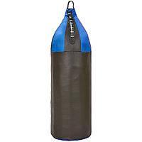 Мешок боксерский Шлемовидный Кирза h-75см Малый шлем BOXER 1005-02 (наполнитель-ветошь х-б, d-22см, вес-10кг, черный-синий)