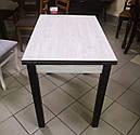 Стіл кухонний розкладний обідній Прага аляска -венге 90*60(120)*75см, фото 2