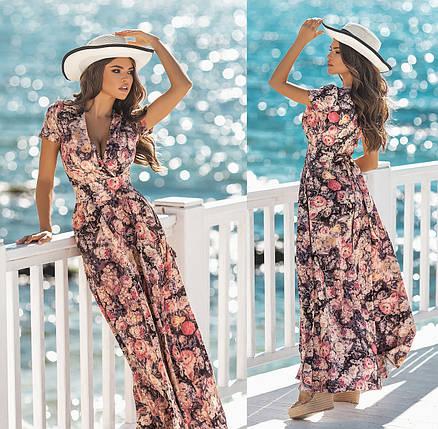 Длинное платье с цветочным принтом, фото 2