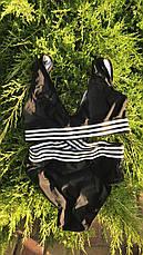 Купальник сдельный черно-белый 2308, фото 3