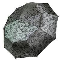 """Женский складной зонт-полуавтомат с жаккардовым куполом """"хамелеон"""" от Flagman, серый, 513-4, фото 1"""