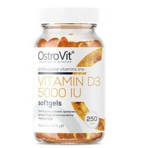 Витамины и минералы OstroVit Vitamin D3 5000 IU (250 капсул.)