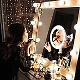 Зеркало с подсветкой Гибкое 10x Flexible Mirror диагональ 7, фото 3