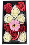 Подарочный набор мыла в виде роз XY19-80 c Розой, фото 3