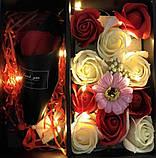 Подарочный набор мыла в виде роз XY19-80 c Розой, фото 4