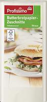 Profissimo Butterbrotpapier-Zuschnitte - Бумага для бутербродов жиронепрницаемая, 70 листов