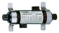 Трубчастий теплообмінник Vagner OVB250 для нагріву води в басейні і джакузі від системи ценр.опалення, 73 кВ
