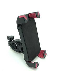 """Крепления """"X"""" на телефон с красным на руль велосипеда"""