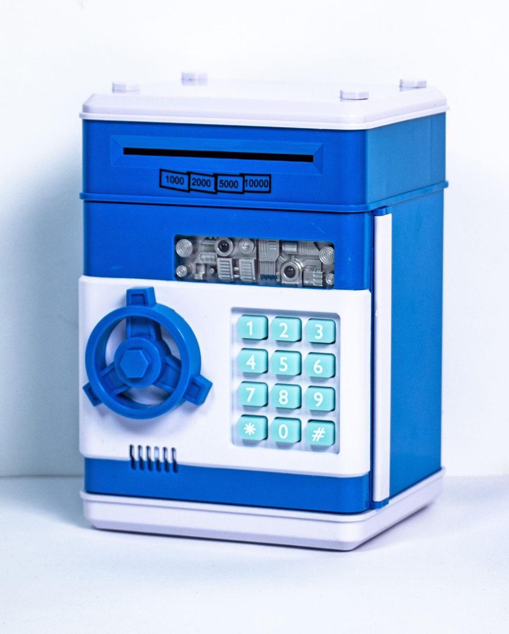 Копилка сейф электронная с кодовым замком для денег 13х13х19см
