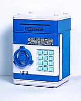 Копилка сейф электронная с кодовым замком для денег 13х13х19см, фото 1