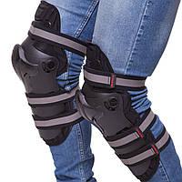 Мотозащита (колено, голень) 2шт SCOYCO K19 (пластик, PL, черный)