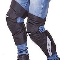 Мотозащита (колено, голень) 2шт SCOYCO K21 (пластик, PL, черный)
