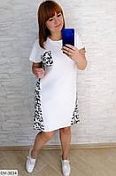 Спортивное свободное платье с надписью-принтом Размер: 46-48, 50-52, 54-56 Арт: 464
