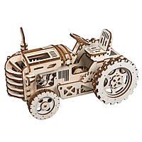 """Дерев'яний конструктор ROKR LK401 """"Трактор"""" 3D пазл, фото 1"""