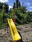 Детский комплекс с горкой и качелями для улицы, фото 3