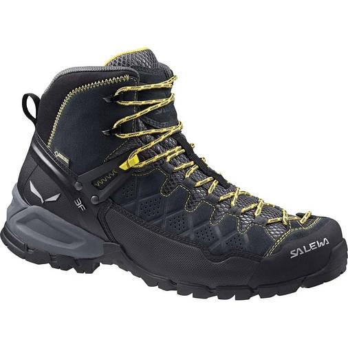 Чоловічі трекінгові черевики Salewa MS ALP TRAINER MID GTX 44 Black-Yellow, фото 2