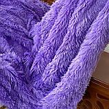 Покривало травичка | Пухнастий махровий плед. Koloco (колоко)- з довгим ворсом. 160х210 см .Колір Блакитний., фото 2