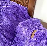 Покривало травичка | Пухнастий махровий плед. Koloco (колоко)- з довгим ворсом. 160х210 см .Колір Блакитний., фото 3