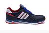 Чоловічі шкіряні кросівки Adidas Tech Flex blue сині