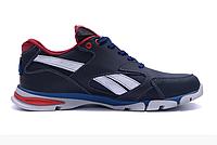 Мужские кожаные кроссовки Reebok Street Style blue синие, фото 1