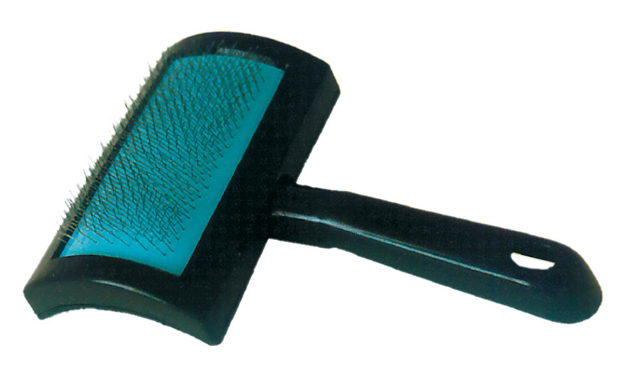 Пуходерка Croci с пластиковой ручкой большая 10,5*8 см