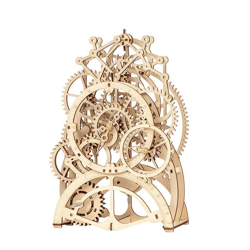 """Дерев'яний конструктор ROKR LK501 """"Годинниковий механізм"""" 3D пазл"""
