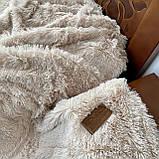 Покрывало травка   Пушистый махровый плед. 160х210 см. Цвет Крем брюле., фото 3