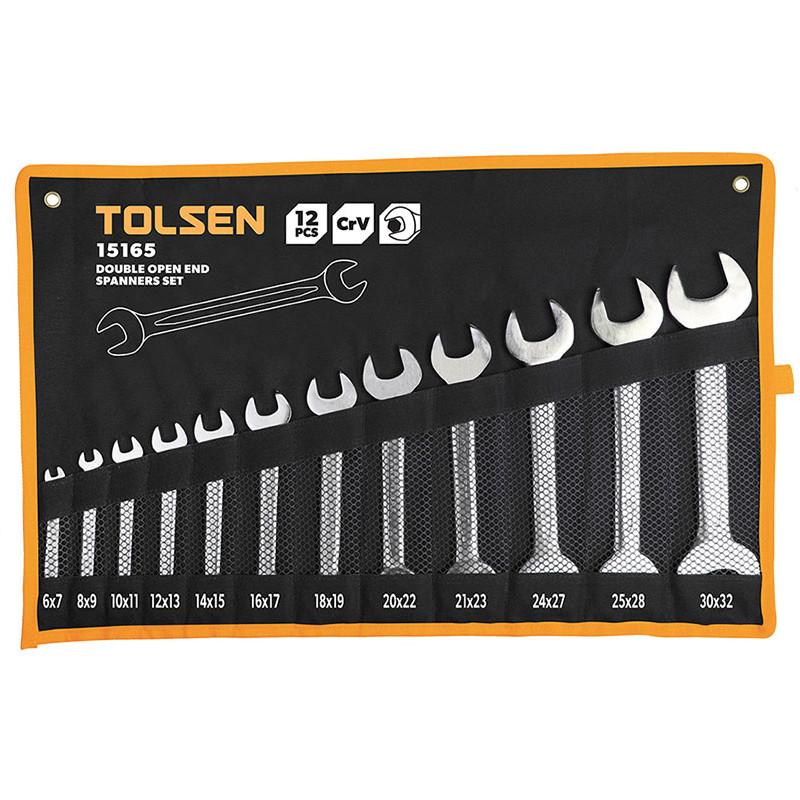 Tolsen Tools Комплект ріжкових ключів 12 шт