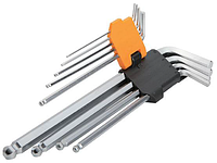 Tolsen Tools Комплект подовженних шестигранних закруглених ключів 9 шт 1.5-10мм