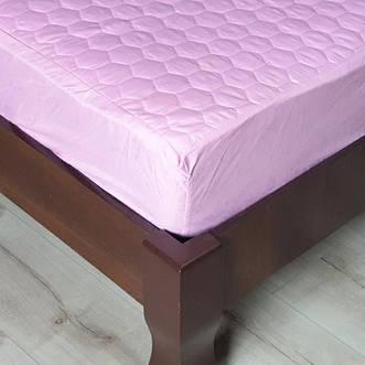 Наматрасники стеганые розовые с тканевым бортом