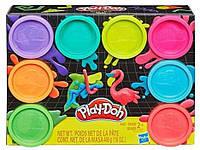 Набор пластилина Play- Doh 8 неоновых цветов