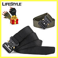 Тактический нейлоновый ремень 125 см Tactical Belt / Мужской ремень + Подарок!