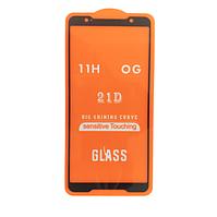 Защитное стекло 21D Full Glue для Asus ROG Phone (ZS600KL) черное 0,3 мм в упаковке