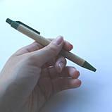 Эко шариковая ручка с цветными деталями., фото 3