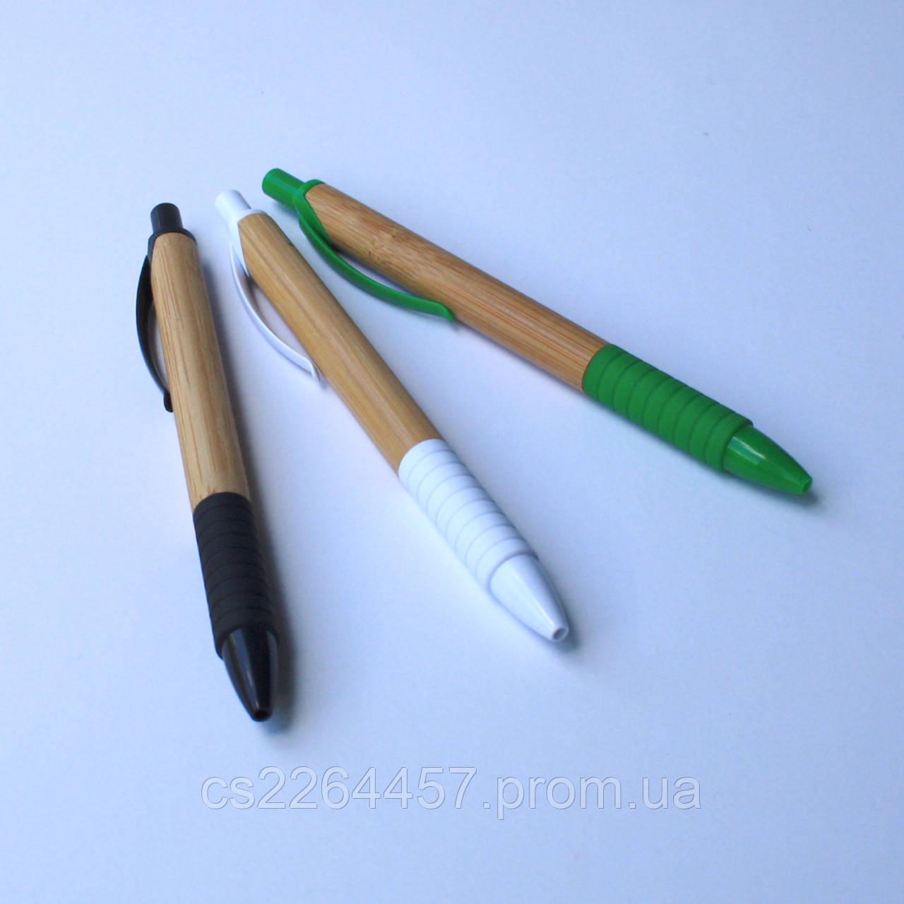 Эко ручка бамбуковая с резиновой вставкой.