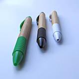 Эко ручка бамбуковая с резиновой вставкой., фото 2