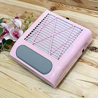 Вытяжка для маникюра SMX-858-8, 80 Вт (розовая)