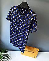 Чоловіча футболка у стилі Louis Vuitton чорна Люкс якість(розміри S)