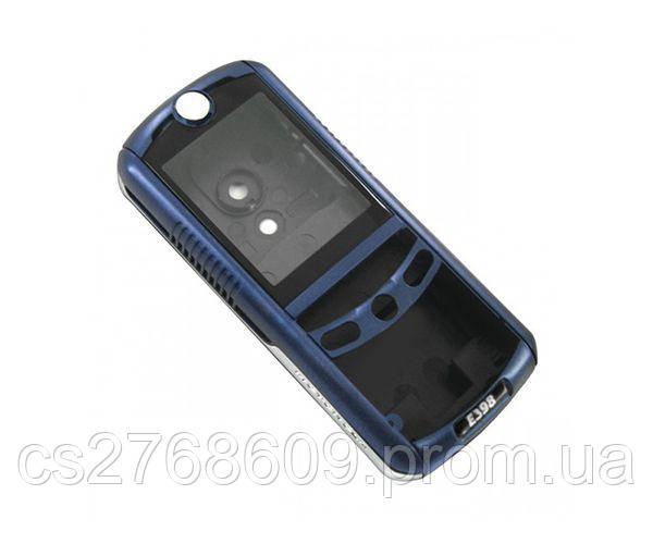 "Корпус ""А-клас"" Motorola E398 синій"