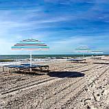 Пляжный зонт с регулируемой высотой Springos 160 см BU0006, фото 9