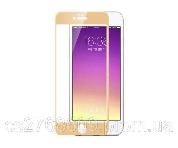 Защитное стекло захисне скло iPhone 6 Plus, IPhone 6S Plus золотий 3D повна проклейка