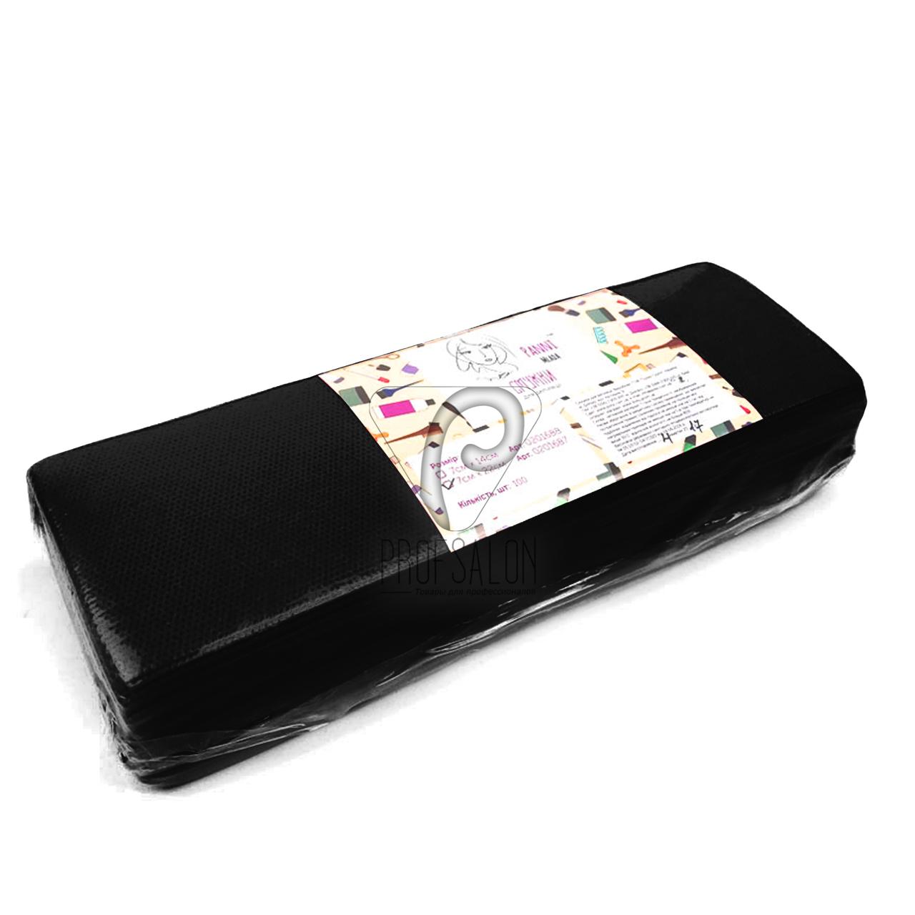 Полоски для депиляции, Panni Mlada 100 шт в упаковке, нетканые-спанбонд, черные